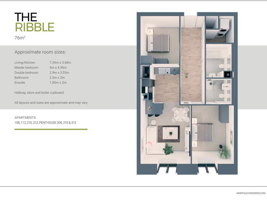 2 Bedroom Apartment For Sale - the-ribble-floor-plan_4499d114edd6ecdcbaf338397f01